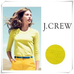 J.Crew Tippi Merino Wool Crew Neck Sweater Yellow